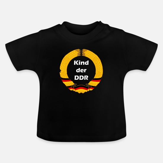 Age Baby Clothes - Child of the GDR, FDJ, East German, Ossi - Baby T-Shirt black