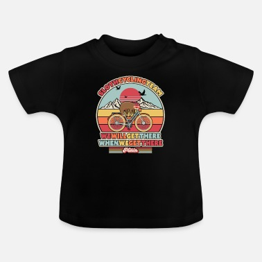 Hilarious Sloth Cycling Team Design Vi kommer dit når - Baby T-skjorte