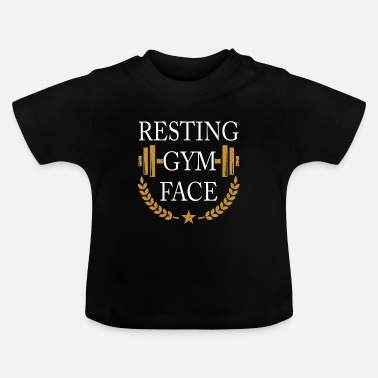 Muskel Resting Gym Face Workout Fitness Rolig gymgåva - T-shirt baby