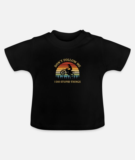 Mountain Biking Baby Clothes - Cycling Bicycle Bike Cyclist Funny MTB Gift - Baby T-Shirt black