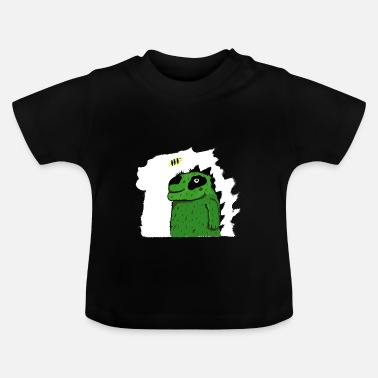 funny colorful crocodile - T-shirt Bébé