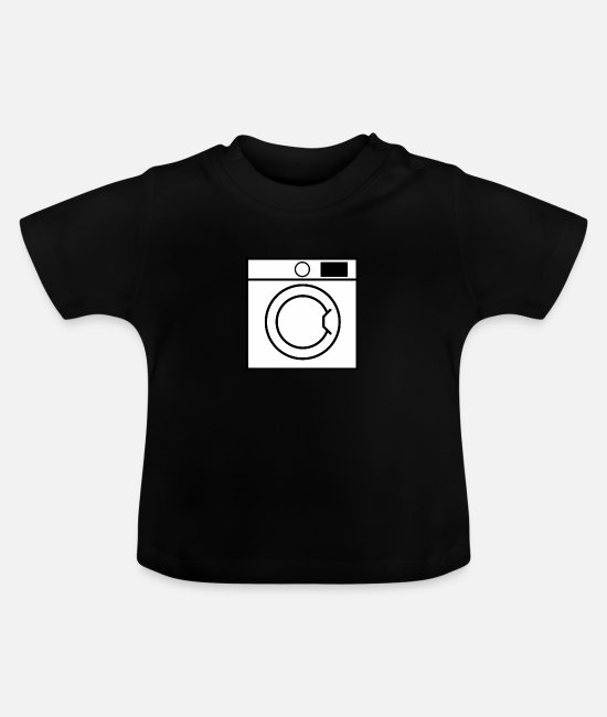 Clean (what It Is) Baby T-Shirts - Washing machine - Baby T-Shirt black
