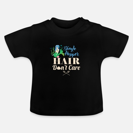 Myth Babykleidung - Dingle Hopper Mermaid Fantasy Mythisches Meer - Baby T-Shirt Schwarz