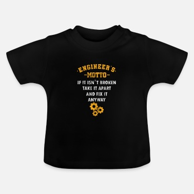Mechanical Engineering Ingeniørens motto Engineering Mechanical Chemical - Baby T-skjorte