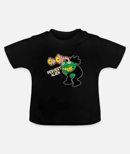 Perfect Baby Clothes - Alien Robot Monster Ufo Space Nasa Funny Gift Idea - Baby T-Shirt black