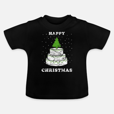 Happy Christmas Christmas cake Happy Christmas Vintage - T-shirt baby
