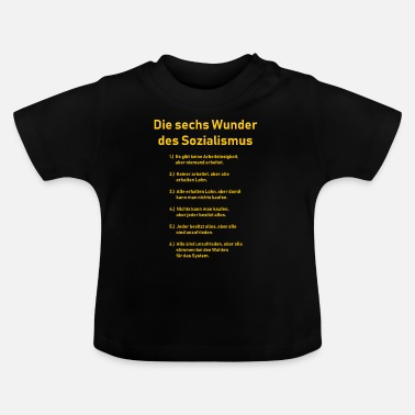Communisme The Six Wonders of Socialism - DDR - Grappig - Baby T-shirt