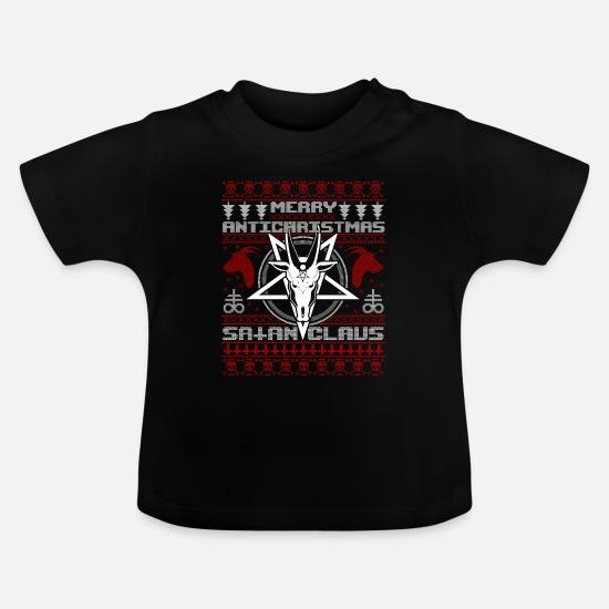 Satan Claus Anti Christmas Xmas Satan Baphomet Maglietta Premium da uomo nero