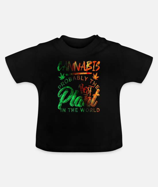 Rasta Baby T-Shirts - Cannabis hemp hashish pothead - Baby T-Shirt black