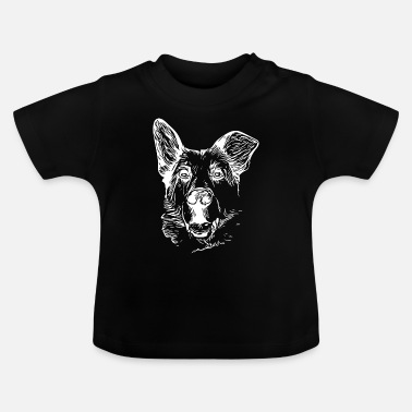 Vintage Dogs Silhouette - Baby T-Shirt