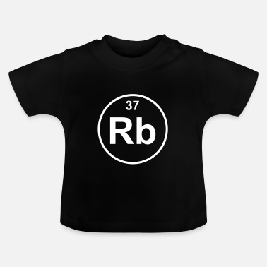Rb Element 37 - rb (rubidium) - Minimal - T-shirt Bébé