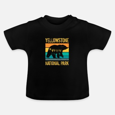 Amérique Ours vintage du parc national de Yellowstone - T-shirt Bébé