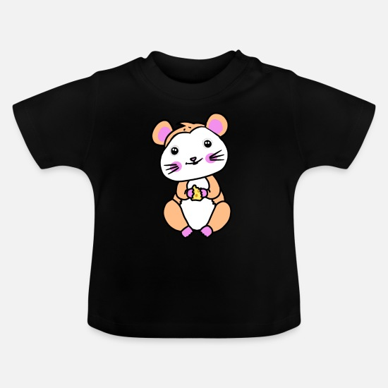 Pet Baby Clothes - Hamster rodent fantasy children hunger - Baby T-Shirt black