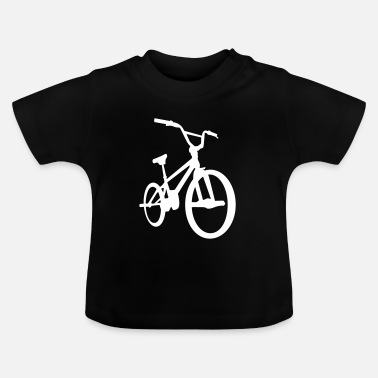 Bmx BMX - Bicycle Moto Cross - Fahrrad -Silhouette-Rad - Baby-T-shirt