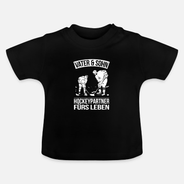 Zoon Vader zoon hockey partner leven familie cadeau - Baby T-shirt