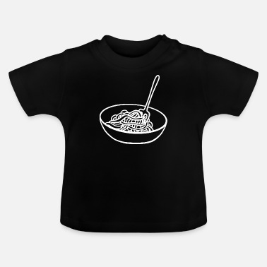 Spaghetti Bowl Noodles Fourchette Spaghetti Server - T-shirt Bébé