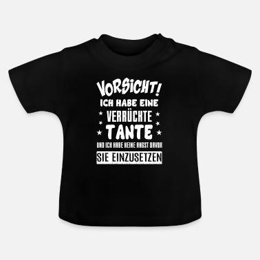 Vorsicht Habe Eine Verrückte Tante Baby Bio-Langarm-Body von Spreadshirt®