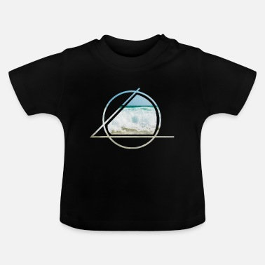 Sea waves spray beach sand gift - Baby T-Shirt