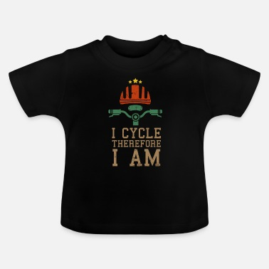 Bmx Funny cyclist biker riding bicycle gift - Baby T-Shirt