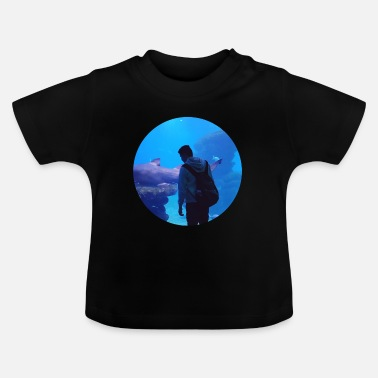 Under Water under water hai aquarium - Baby T-Shirt