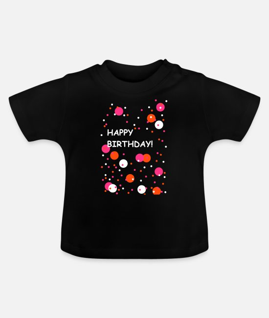 Fabulous Baby shirts - Happy Birthday Party Fun Gift Cool Art Design - Baby T-shirt zwart