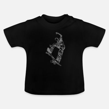 Skateboard Skateboarder with skateboard - Baby T-Shirt
