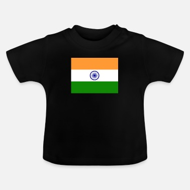 India Vlag van India (in) - Baby T-shirt