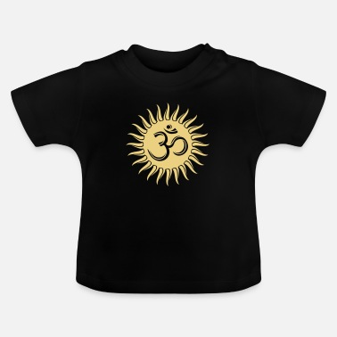 Spirituality Peace Light Om Sonne, Buddhismus, spirituell, Yoga, Meditation - Baby T-Shirt