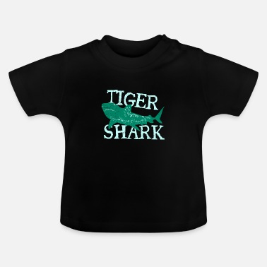 Bedstefar Fish Tiger Shark Danger Diver Gift - Baby T-shirt