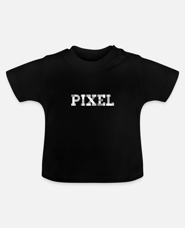Generation Baby T-shirts - pixel - Baby T-shirt sort