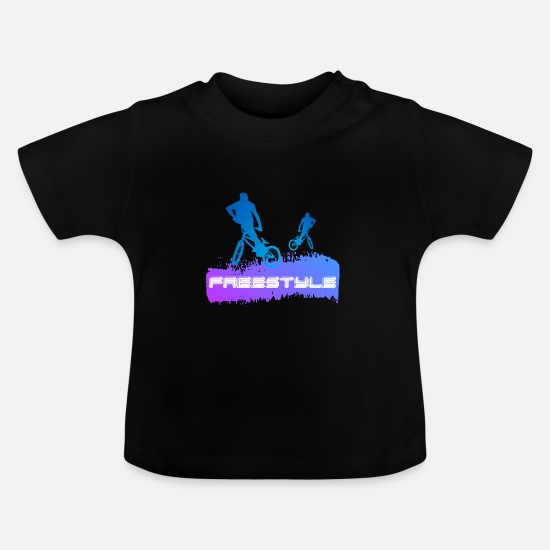 Boarders Baby Clothes - TWO BMX - Baby T-Shirt black