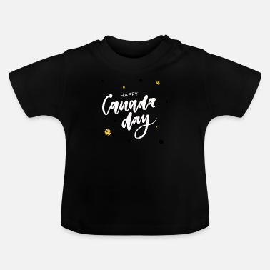 Leaf Happy Canada Day - T-shirt Bébé