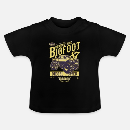 Monster Truck Baby Clothes - Monster Truck Big Foot - Baby T-Shirt black