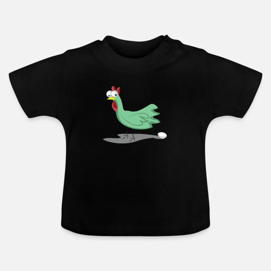 Gift Idea Baby Clothes - chicken - Baby T-Shirt black