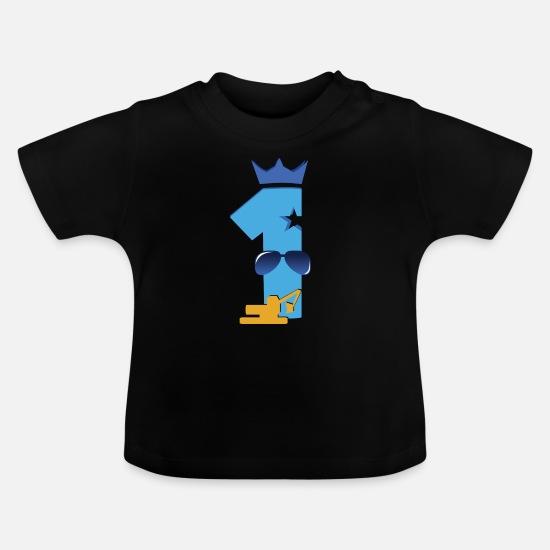 Bebé Niño Personalizado 1st Cumpleaños Cohete Diseño Camiseta Mangas Cortas Camiseta,
