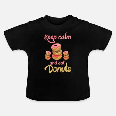 And Keep Calm and Eat Donuts - EN - Baby T-skjorte