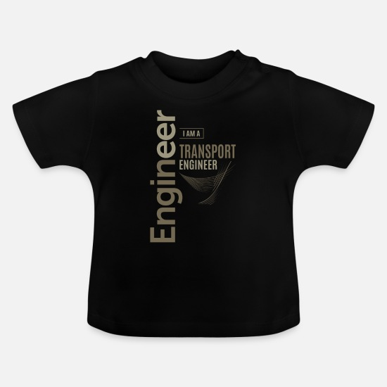 Love Baby Clothes - Transport Engineer - Baby T-Shirt black