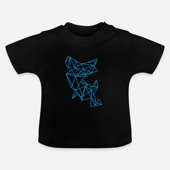 Design Baby Clothes - Filigree pattern  - Baby T-Shirt black