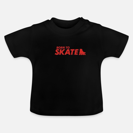 Gift Idea Baby Clothes - inline skates - Baby T-Shirt black
