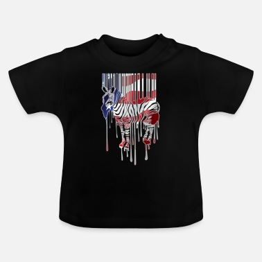 Strip American Zebra - Baby T-Shirt
