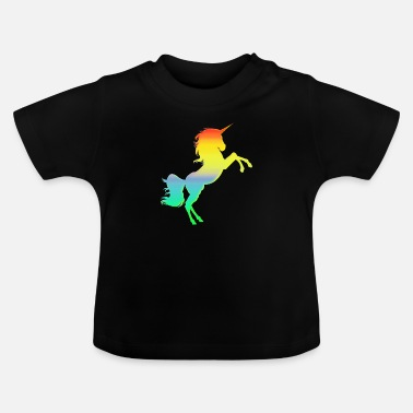Collections Buntes Einhorn - Baby T-Shirt
