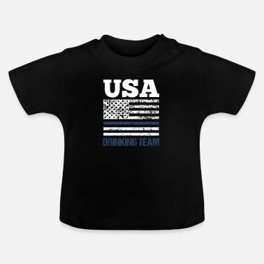Usa Bachelor Party USA Drinking Team Beer Party Wear - T-shirt baby