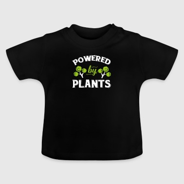 Vegan Shirt Powered By Plants Vegetarian Gift Tee - Baby T-Shirt