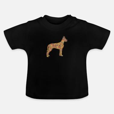 4ee6a9f2091bd Danois Cadeau d'art aquarelle Splash Dogue Allemand - T-shirt Bébé