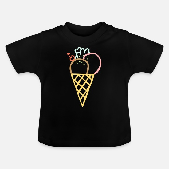 Ice Baby Clothes - ICE CREAM SUMMER - Baby T-Shirt black