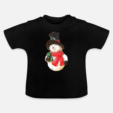 Snowman - drawing - Baby T-Shirt