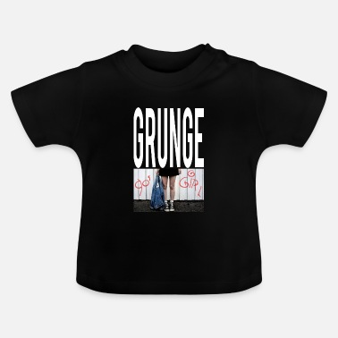 Tekstballon Grunge Girl Graphic - Baby T-Shirt