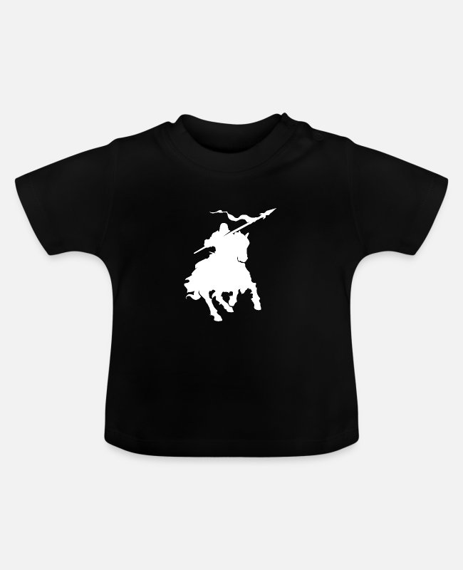 Mare Baby T-Shirts - Polo rider - Baby T-Shirt black