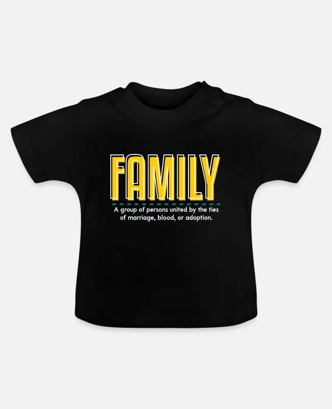 Family Trip Baby T-Shirts - Family is family - Baby T-Shirt black