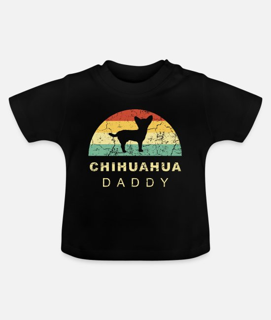 German Shepherd Baby T-Shirts - Grunge retro vintage chihuahua dogs dad - Baby T-Shirt black